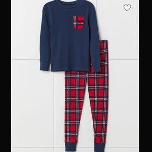 Dark Blue/Checked Pajama Set